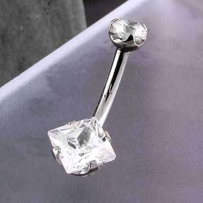 Princess Cut Gem Navel