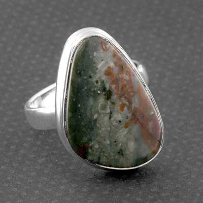 Silver and American Jasper Ring