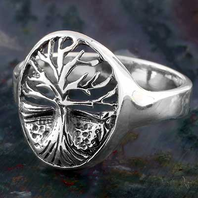 Silver Scenic Tree Ring