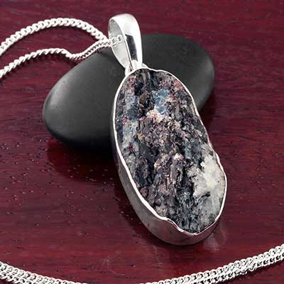 Astrophyllite and Silver Necklace