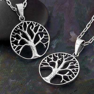 Silver Mother Tree Necklace