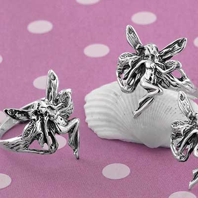 Silver Dancing Fairy Ring