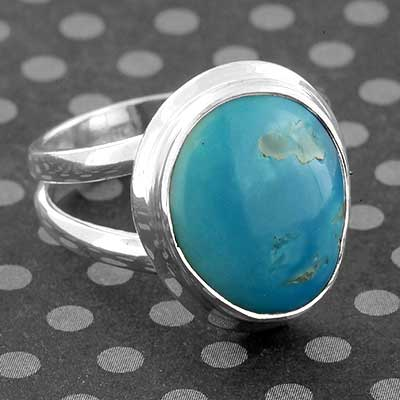 Silver and Sleeping Beauty Turquoise Ring