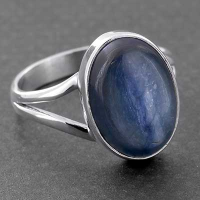Silver and Kyanite Ring