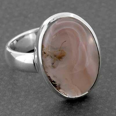 Silver and Aqua Nevada Stone Ring