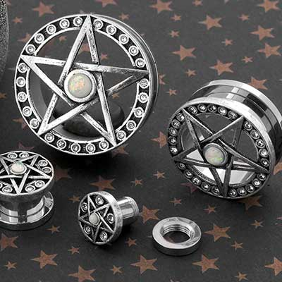 Embellished Pentagram Plugs