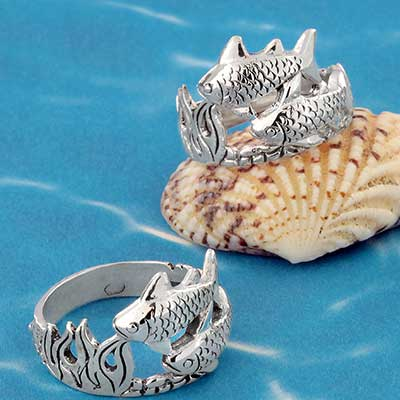 Silver Scenic Underwater Ring