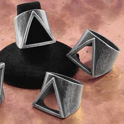 Steel Triangle Ring
