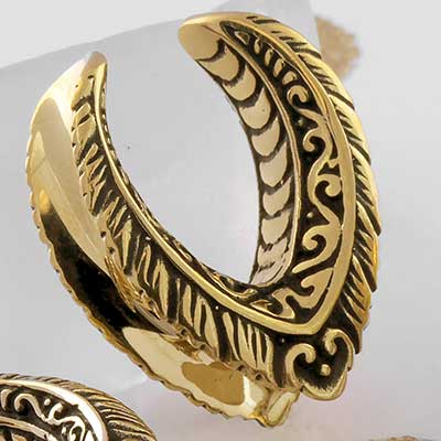 Brass Ornate Teardrop Saddle Design