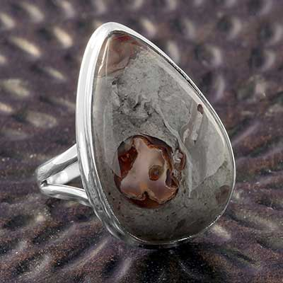 Silver and Boulder Opal Ring