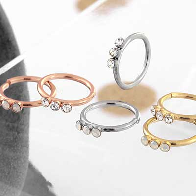 Trio Gem Seamless Ring