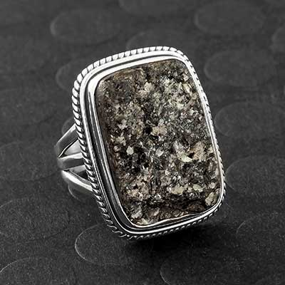 Silver and Astrophyllite Ring