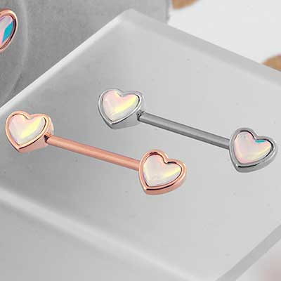 Hologram Heart Barbell