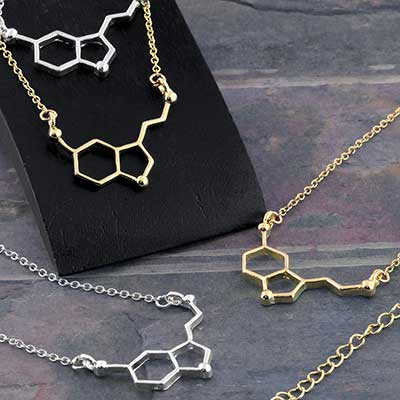 Seratonin Molecule Necklace