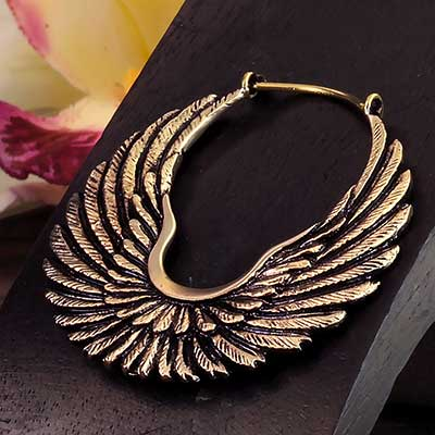 Brass  Wings Earrings