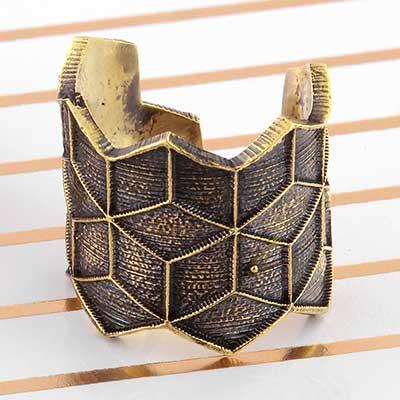 Brass Cube Ring