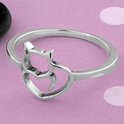 Cat Heart Ring