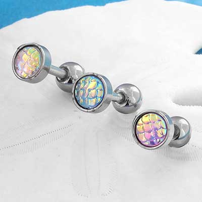 Iridescent Mermaid Barbell