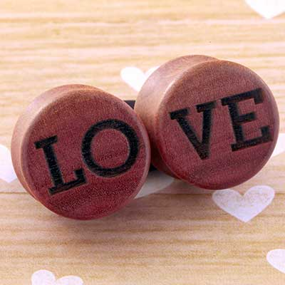 Pink Ivory Wood Reversible Love Plugs