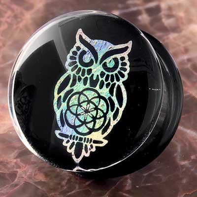Sacred Owl Image Plugs