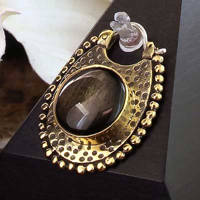 Brass Coven Weights with Golden Obsidian