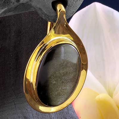 Aura Weights with Golden Obsidian