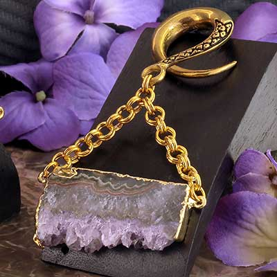 Brass with Amethyst Slice Weights