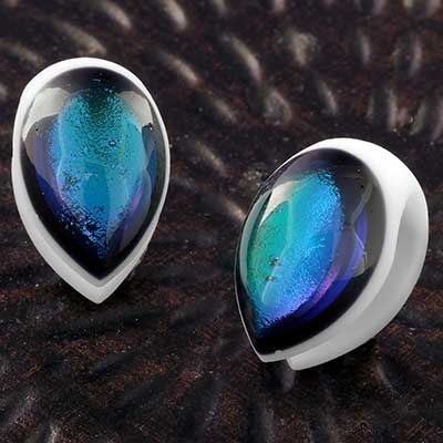 Glass Dichroic Shield Weights (White with Aqua)