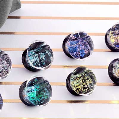 Glass Galaxy Scarab Plugs