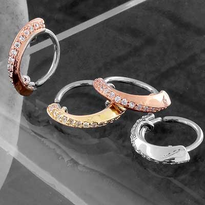 CZ Twist Seamless Ring