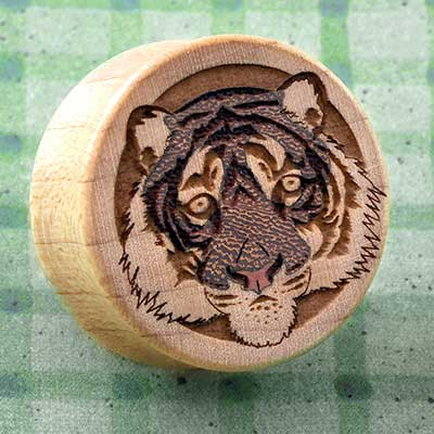 Curly Maple Wood Tiger Plugs