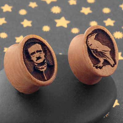Pink Ivory Wood Nevermore Oval Plugs