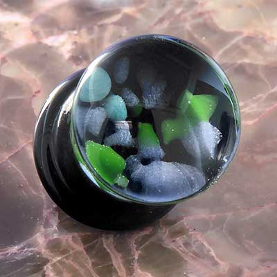 Glass Pebble Plugs