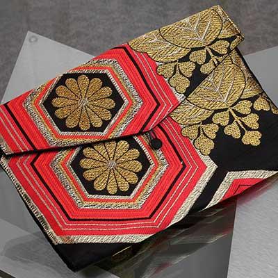 Recycled Kimono Jewelry Pouch