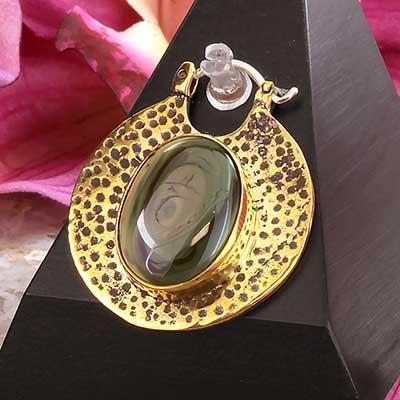 Brass Kiki Earrings with Imperial Jasper