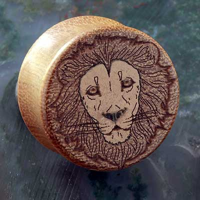 Osage Orange Wood Lion Plugs