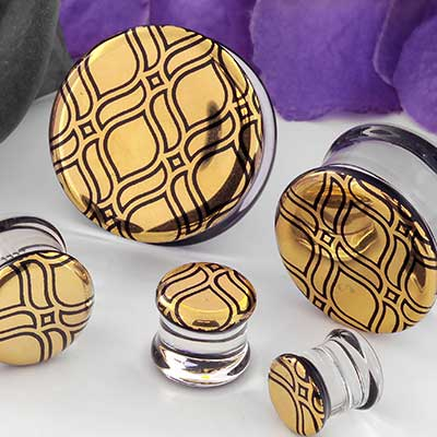 Pyrex Glass Taj Plugs
