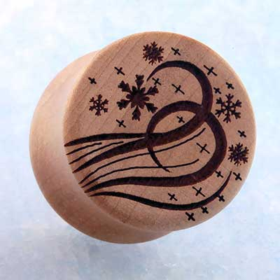 Swiss Pear Wood Snow Flurry Plugs