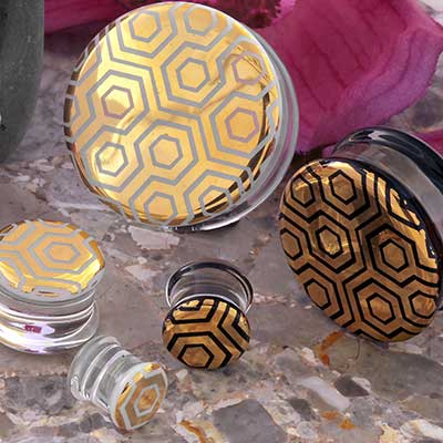 Pyrex Glass Labyrinth Honeycomb Plugs