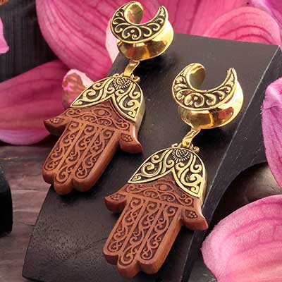 Brass Saddles with Hamsa Dangle