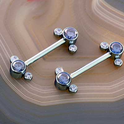Titanium Nipple Cluster Barbell