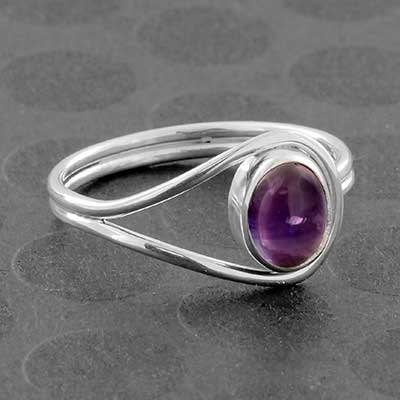 Silver and Amethyst Ring