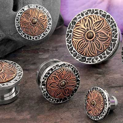 Textured Flower Plugs