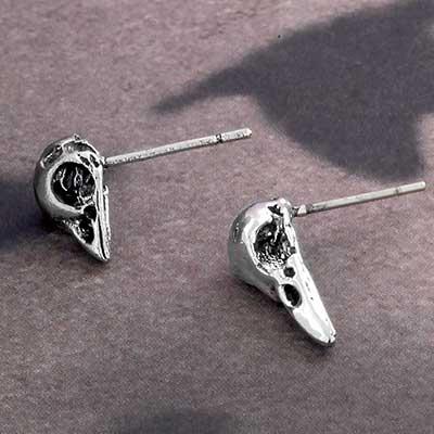 Assorted Bird Skull Stud Earrings