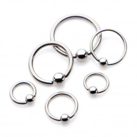 PRE-ORDER Niobium Captive Bead Ring