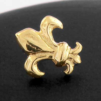 Fleur De Lis Threadless End
