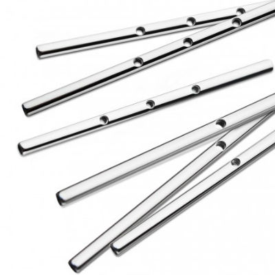 PRE-ORDER Titanium Threaded Center Industrial Barbell (Post Only)