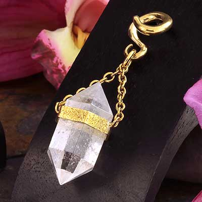 Solid Brass and Terminated Quartz Crystal Weights