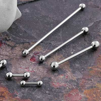 Titanium Internally Threaded Straight Barbell