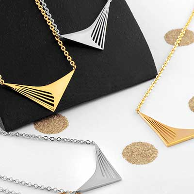 Chevron Arrow Necklace